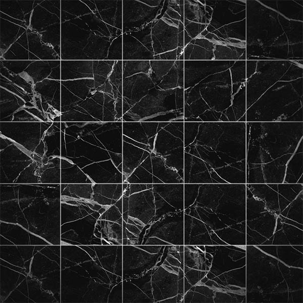 20 Black Marble Wall Tile Stickers