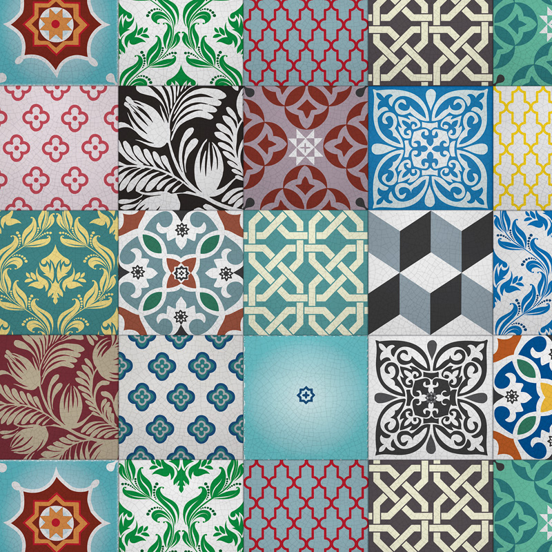 moroccan kitchen wall tile stickers robin sprong wallpaper
